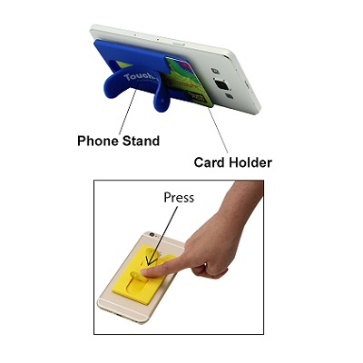 2 in 1 Silicon Smartphone Stand
