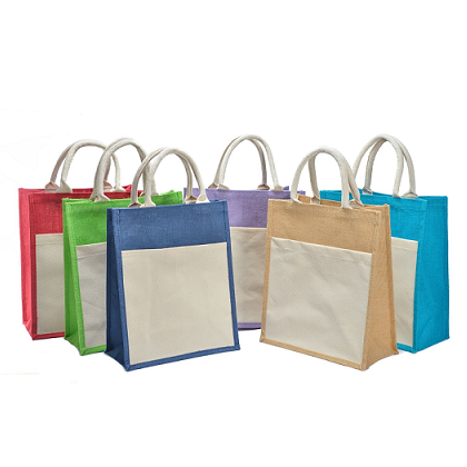 Reusable Pocket Jute Bag