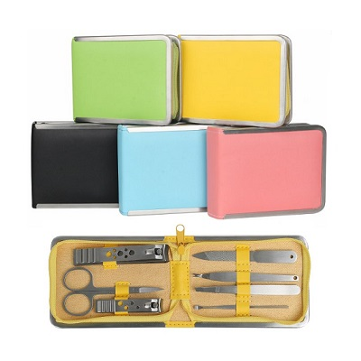 Exclusive Colourful PU Manicure Set