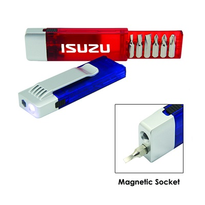6 Bits Handy Magnetics Tool with LED Light