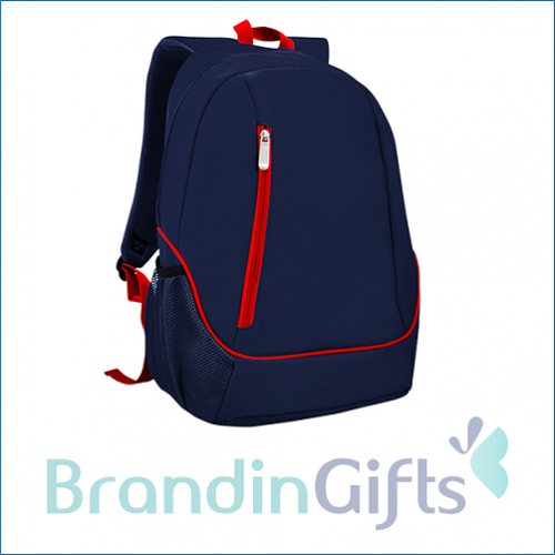 Corporate Backpack with Pocket (Blue)