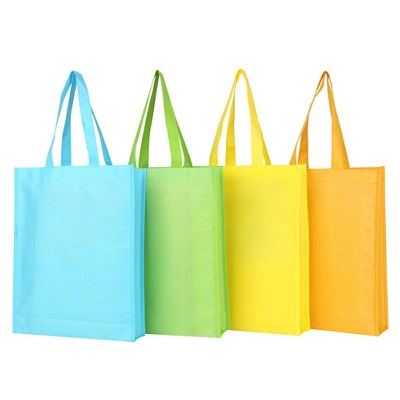 Colour Piping Black Non Woven Bag