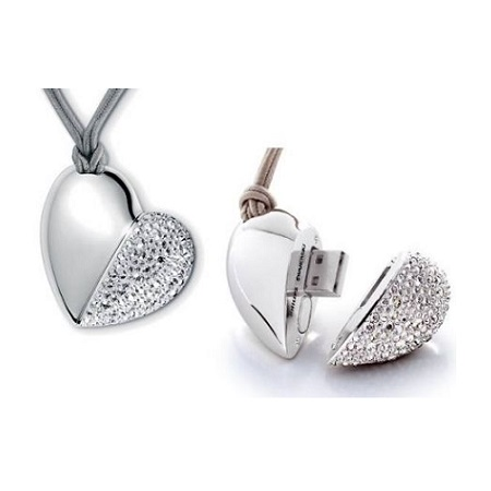 Heart Shape Jewellery USB Drive