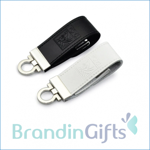 Exclusive Clip On Leather Flash Drive