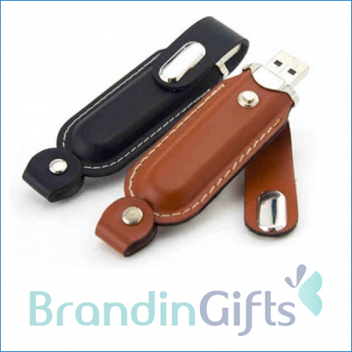 Clip on Leather USB Flash Drive