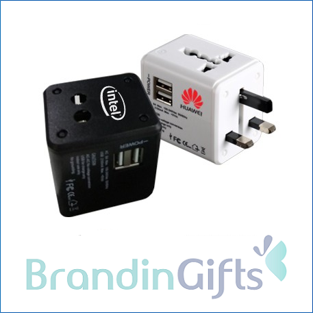 International Travel Dual USB Adaptor (2A)