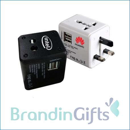 International Travel Dual USB Adaptor (2A)