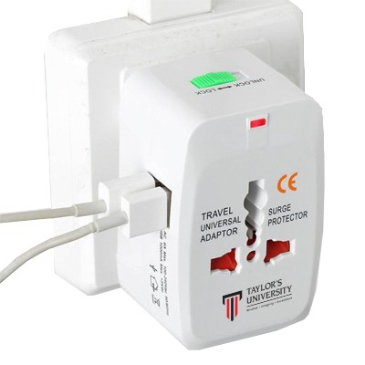 International Multi-Plug Dual USB Travel Adapter