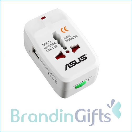 International Multi-Plug Dual USB Travel Adapter