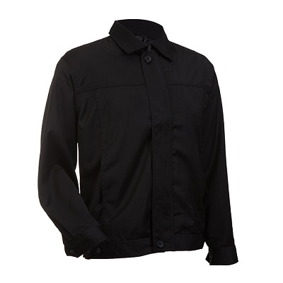 Corporate Hidden Zip Jacket (Black)