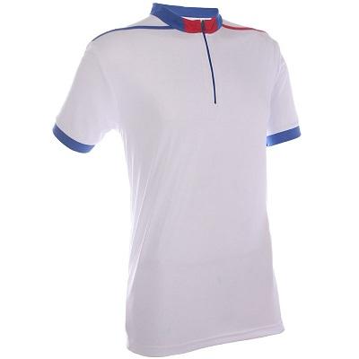 Mock Neck T-Shirt with Zip (Unisex)