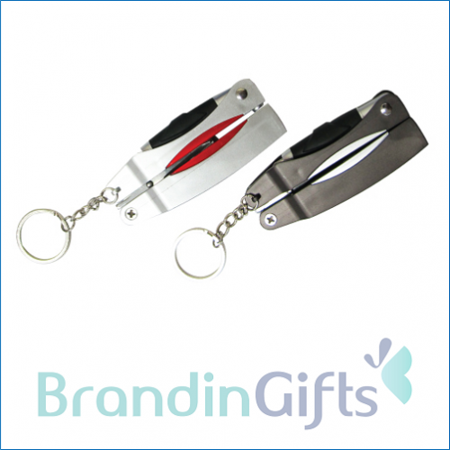Mini LED Torchlight with Tools and Pen in chain
