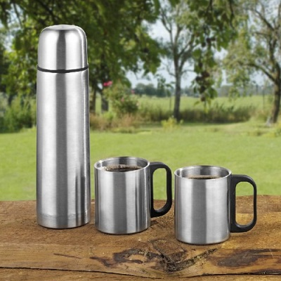 Travelling Thermos Flask Bottle Set