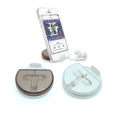 Mobile Phone Holder With Earphone