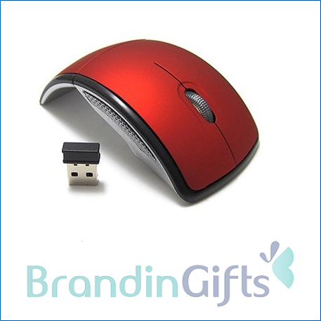Arc Design Wireless Folding Optical Mouse