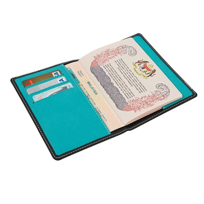 Dual PU Leather Passport Holder