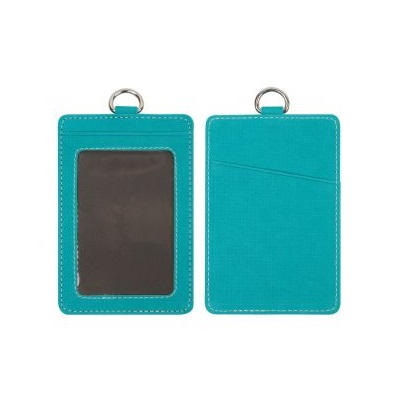 Textured Color PU Leather Name Holder