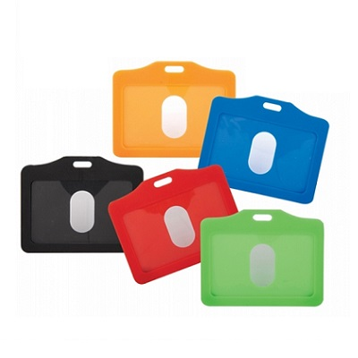 Plastic color ID tag holder