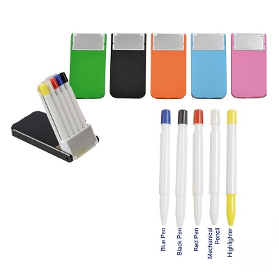 5 in 1 Stationery Set in stand