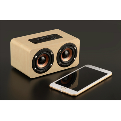 Wooden PURE Sound Bluetooth Speaker with Built in Battery