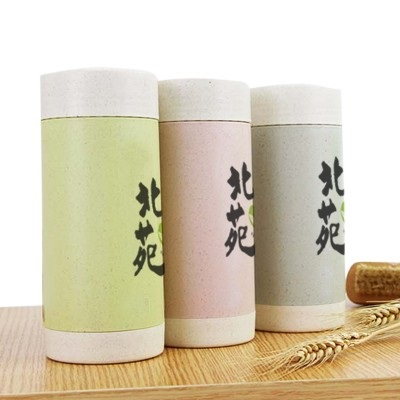 Eco Wheat Natural Straw Double Wall Ceramic Tumbler