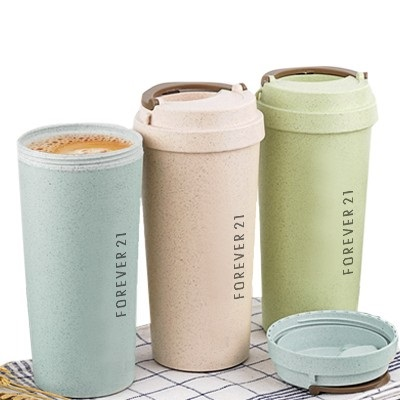 Eco Wheat Natural Straw Double Wall Coffee Cup
