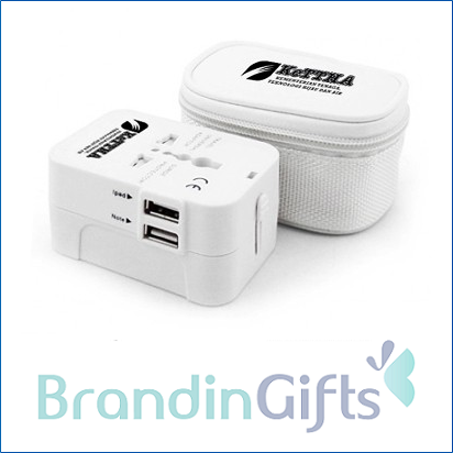 Dual USB Worldwide Travel Adapter