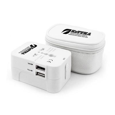 Dual USB Worldwide Travel Adapter