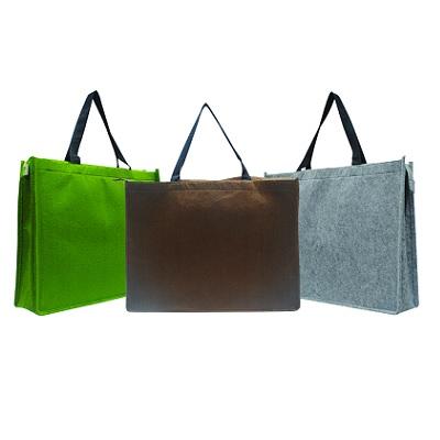 Felt Carrier Bag with Zip