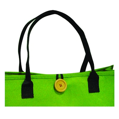 Felt Carrier Bag with Button