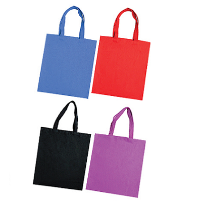 Basic Colour Canvas Tote Bag