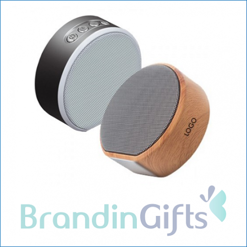 Compact Wooden HiFi Bluetooth Speaker with Built-in Battery