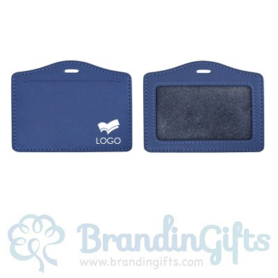 Genuine Leather ID Holder - Horizontal