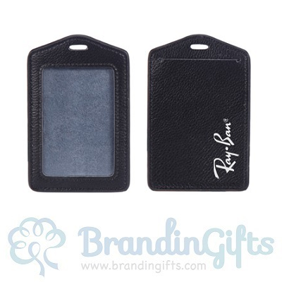 Genuine Leather ID Holder - Vertical