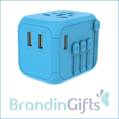 Triple Smart USB World Travel Adaptor 2.4A