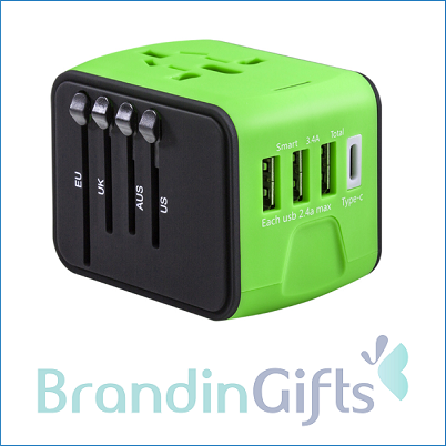 Smart IC Type-C USB World Travel Adaptor