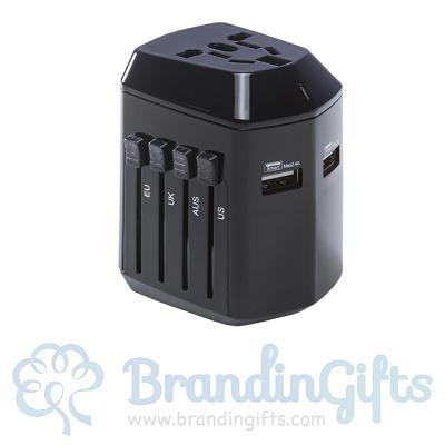 Safety Anti Single Plug 2.4A Dual USB World Adaptor