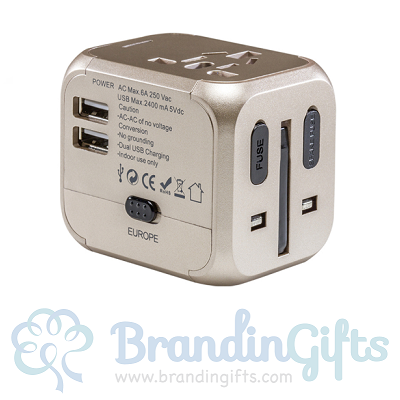 Universal Travel Charger Adapter with Dual USB