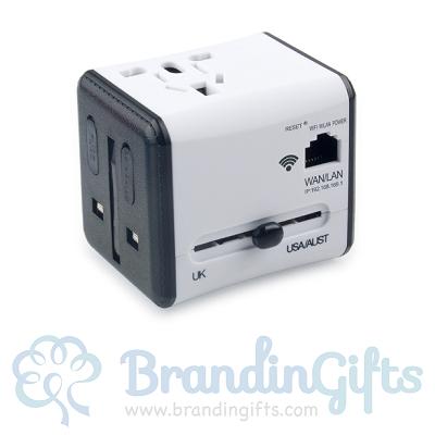 Wireless International Travel Adapter with Wifi USB
