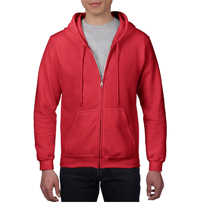 Classic Fit Adult Zipper Hooded Sweatshirt (Unisex)
