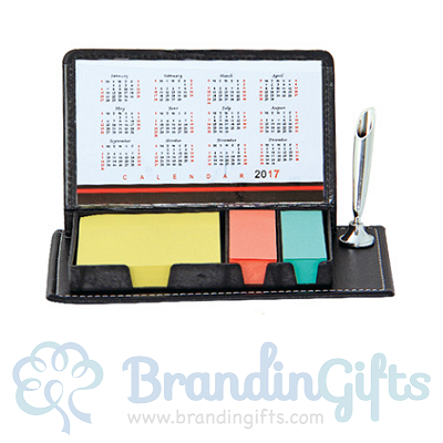 Memo Sticky Notepad Box With Pen Holder