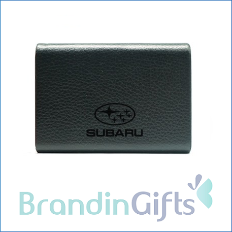 STYLE Magnetic Leather Name Card Holder
