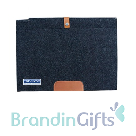 15'' Premium Wool Felt Strap MacBook Sleeve