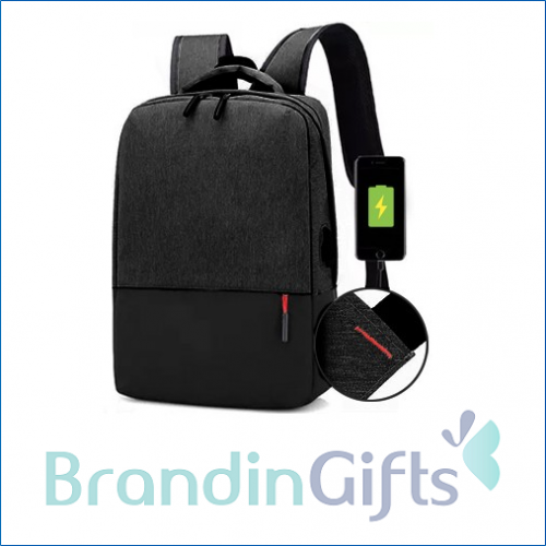15.6'' BLAIRE Laptop Backpack with External USB Port
