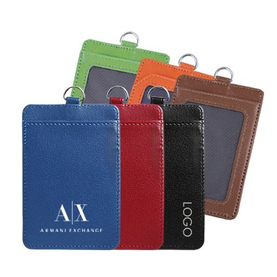 Faux Leather Slim ID Tag Holder