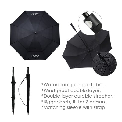 "30"" Double Layer Golf Umbrella"