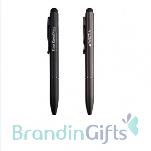 EXEC Twist Action Metal Ball Pen with Stylus