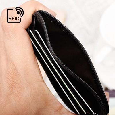 RFID Safe 6 Slot Extra Slim G.Leather Travel Wallet