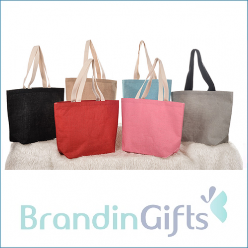 Lovly Light Jute Tote Bag