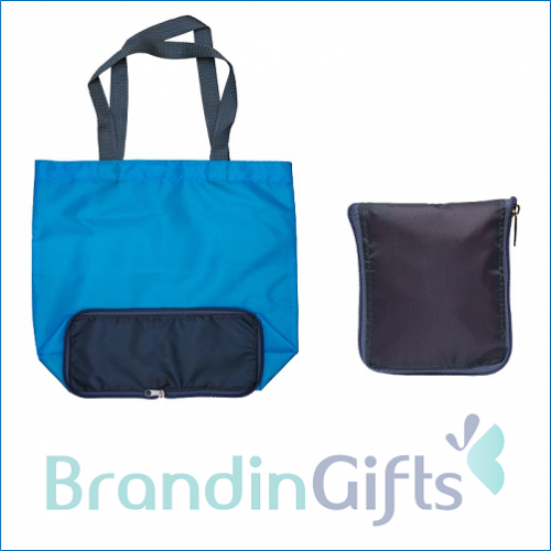 Brandon Foldable Zipper Tote Bag